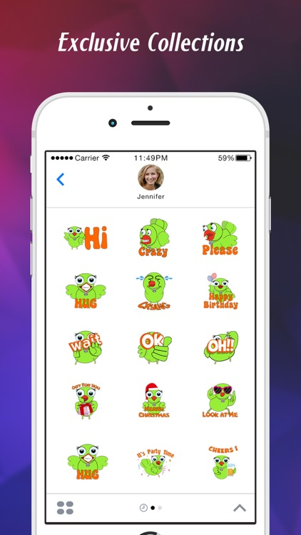 Stickers for iMessage & texts screenshot-4