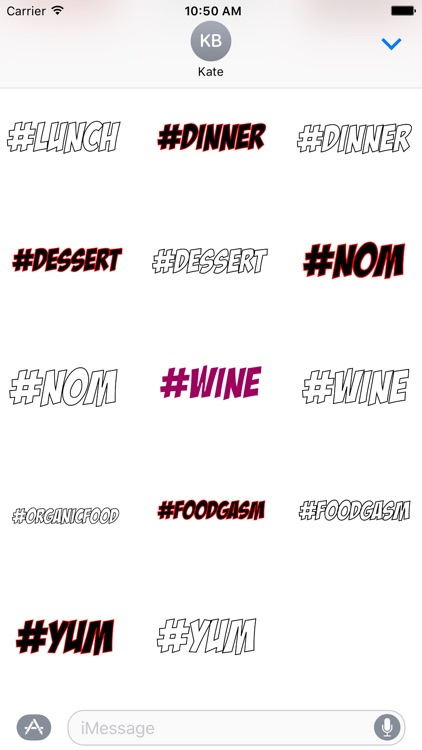 #Foodie-Hashtag Stickers for Food Lovers! screenshot-3