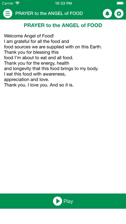 PRAYER To The ANGEL Of FOOD by JMCR Foundation