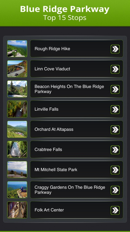 Blue Ridge Parkway Top 15 Stops screenshot-1