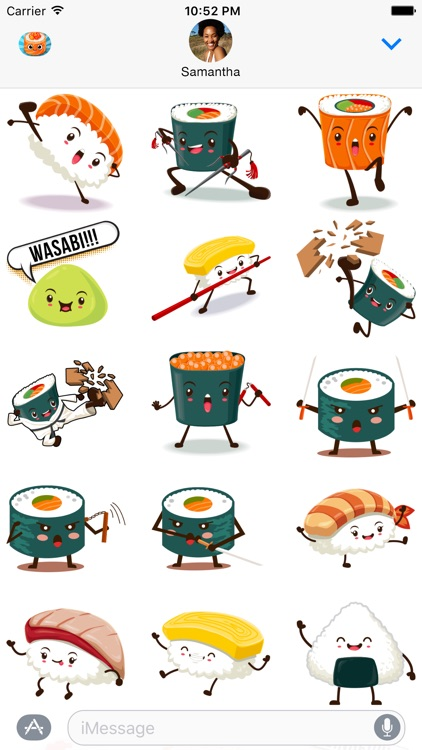 SushiMoji - Yummy Sushi Emoji Keyboard & Stickers screenshot-4