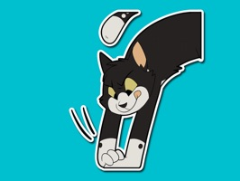 A cute sticker pack of a literal tuxedo cat, illustrated by the venerable NowandLater