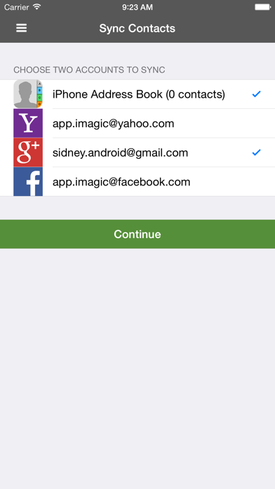 Sync, Backup & Clean Contacts for Google Gmail Screenshot on iOS