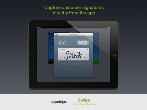 Screenshot of Swipe Credit Card Terminal