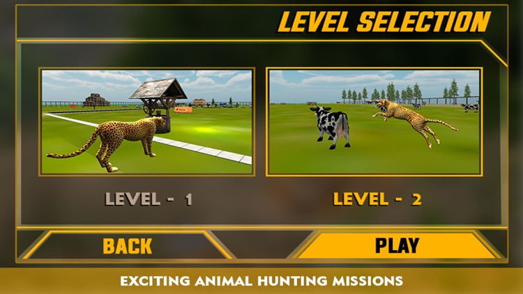 Wildlife cheetah Attack simulator 3D – Chase the wild animals, hunt them in this safari adventure screenshot-3