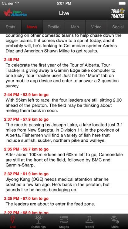 2016 Tour of Alberta Tour Tracker