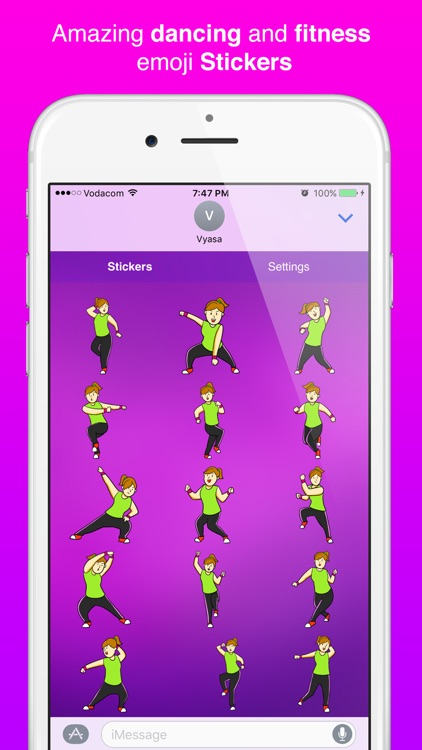 Zumoji Dancing & Fitness emoji Stickers