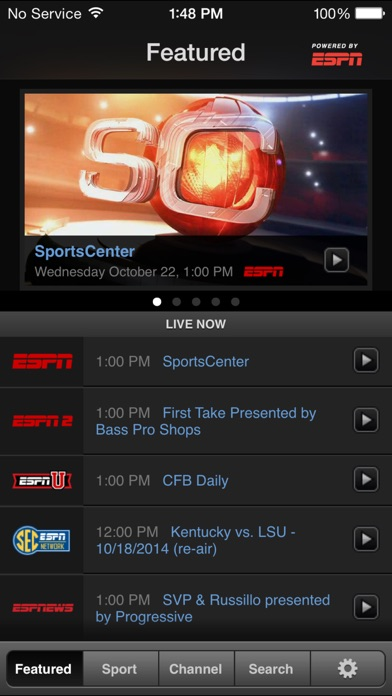 WatchESPN iPhone