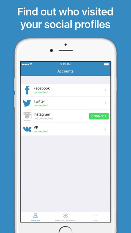 Social Spy – assistant for your social accounts