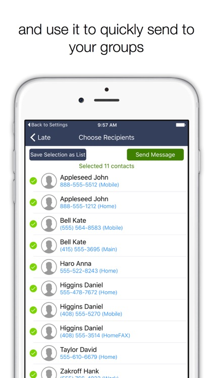 Group SMS Free - Send Text to group of contacts screenshot-3