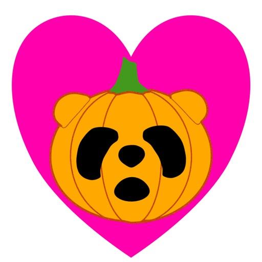 Panda in Halloween - cute sticker