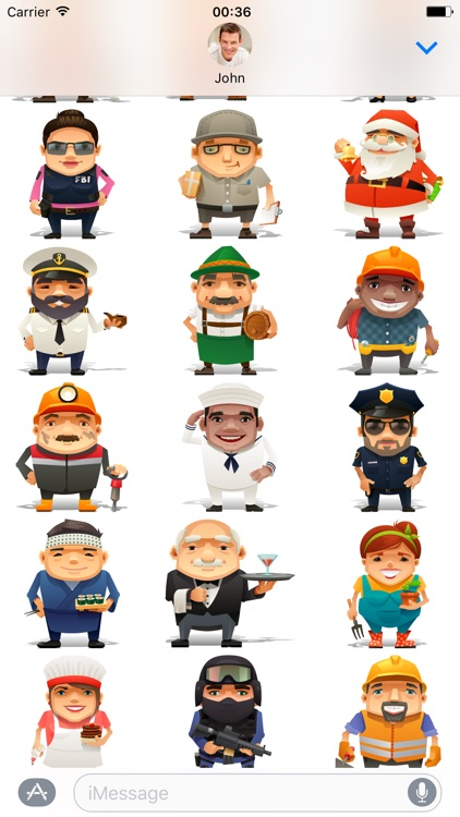 Professions - Stickers for iMessage screenshot-2