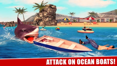 サメの攻撃シミュレータ3Dグレートホワイトフィッシュの戦いのスクリーンショット1