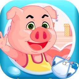 三只小猪照顾小宝宝 早教 儿童游戏