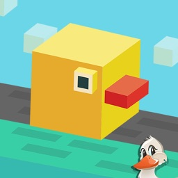 Blocky Tiny duck- Endless bouncy escape and sprint from The crossy City
