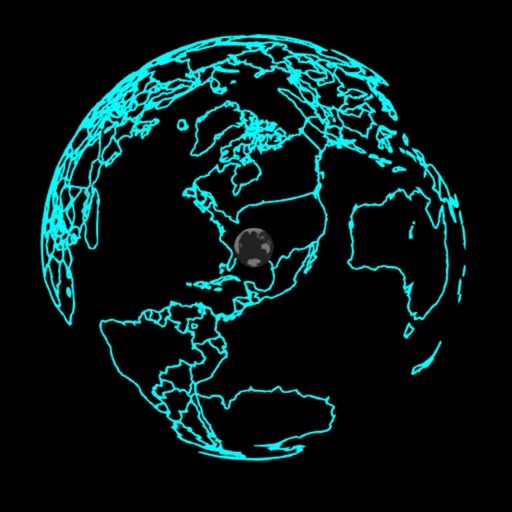 Glass Globe Transparent Earth Map by Pluribus Web LLC