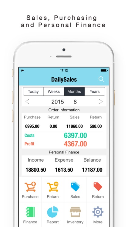 Daily Sales Tracker-Sales Items,Storage, Inventory screenshot-1