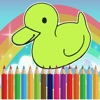 Funny Farm Animal Coloring Drawing for Kids