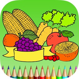 The Vegetable Coloring Book for Children: Learn to color the world of food, fruits and vegetables