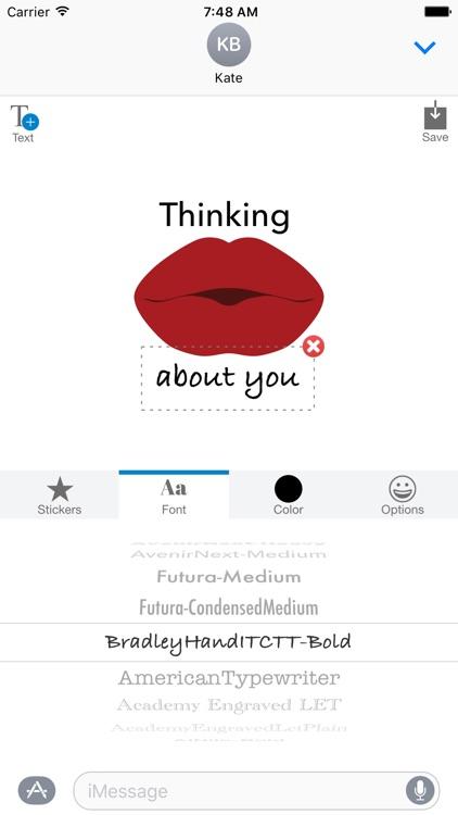 Sexy Lips - MYOSE - Make Your Own Sticker Emoji screenshot-3