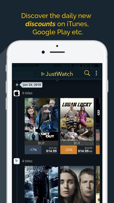 Download JustWatch - Movies & TV Shows for Pc