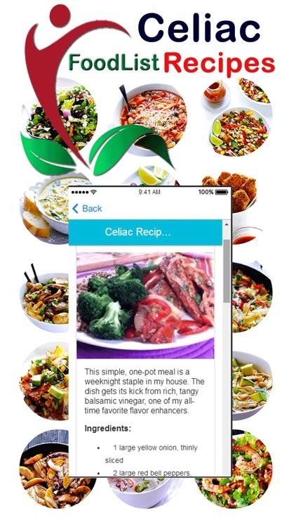 Celiac Food Cookbook Recipes - NO Gluten Food