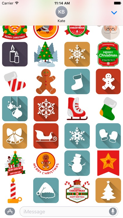 Holiday and Christmas Stickers screenshot-4