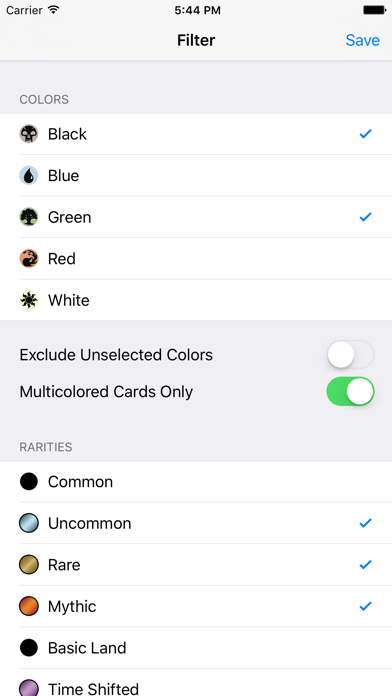 MTG Collection Manager Screenshot on iOS
