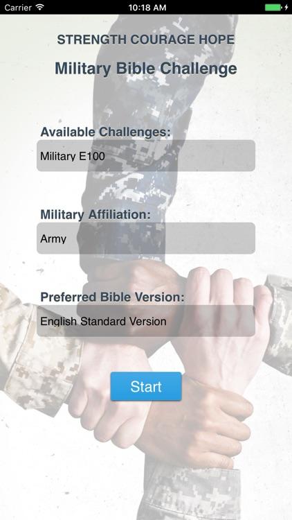 Military Bible Challenge