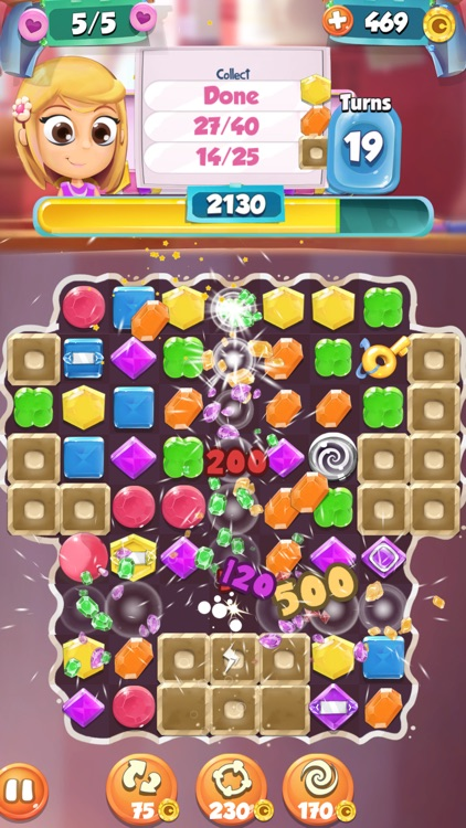 Jewels and Gems Match 3 Game: Crazy Diamond Rush and Color Puzzle Adventure screenshot-4