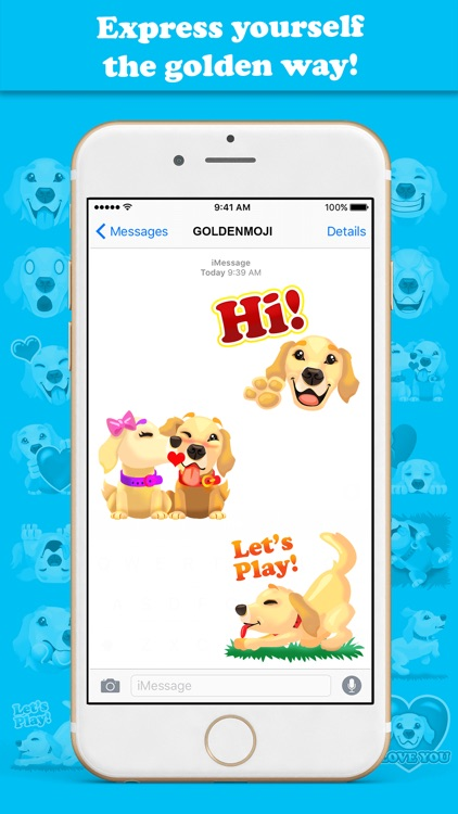 GoldenMoji - Golden Retriever Emojis screenshot-3