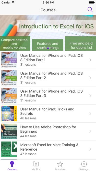 User guide for iPhone & iPad Screenshot