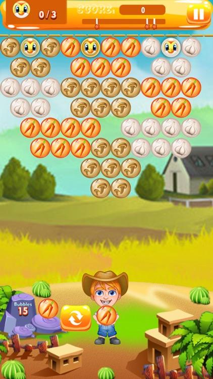 Farmer Bubble Shooter : Pop Farm Fruit Bubbles