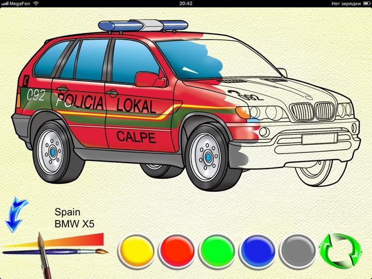 Police Cars - coloring book screenshot-4