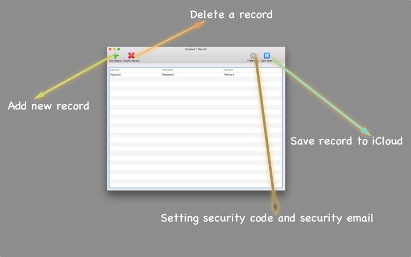 Password Record скриншот программы 3