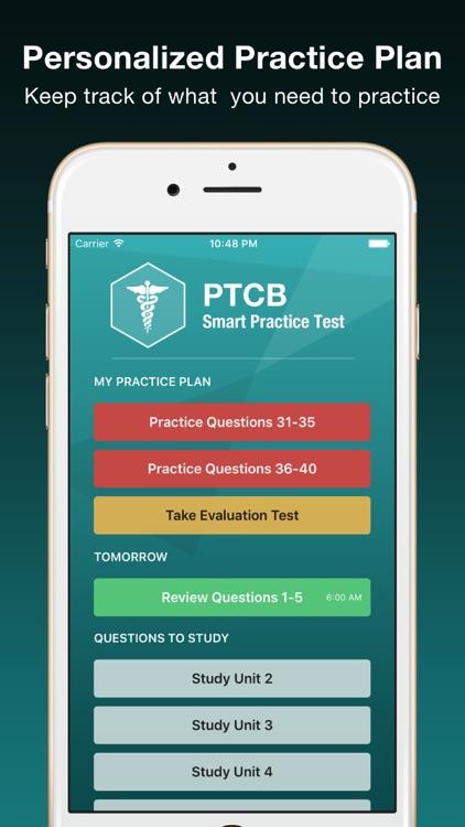 PTCB Smart Test Prep - PTCE Pharmacy Tech Exam screenshot-3