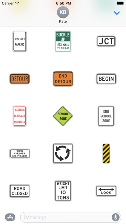 SignMoji: US Road Signs 1 screenshot-3