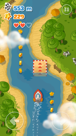 ‎Little Boat River Rush Screenshot