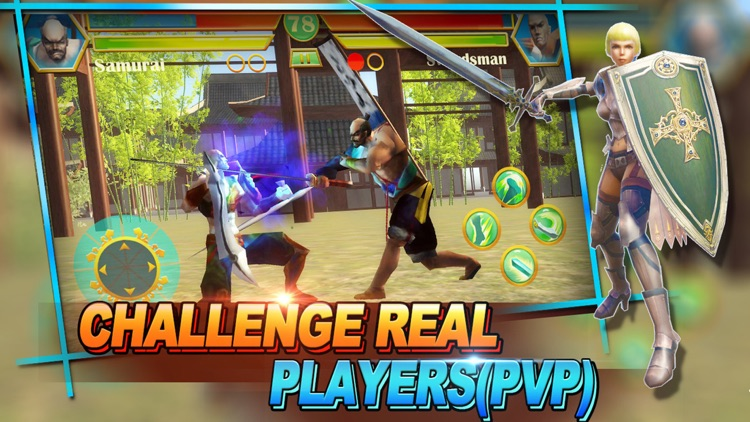 Shadow Blade fight:Free multiplayer PVP online boxing kombat games