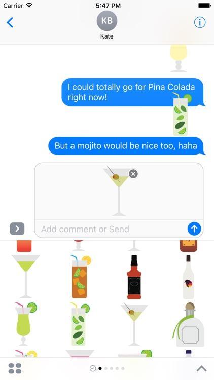 Mixed Drinks Sticker Pack for iMessage screenshot-3