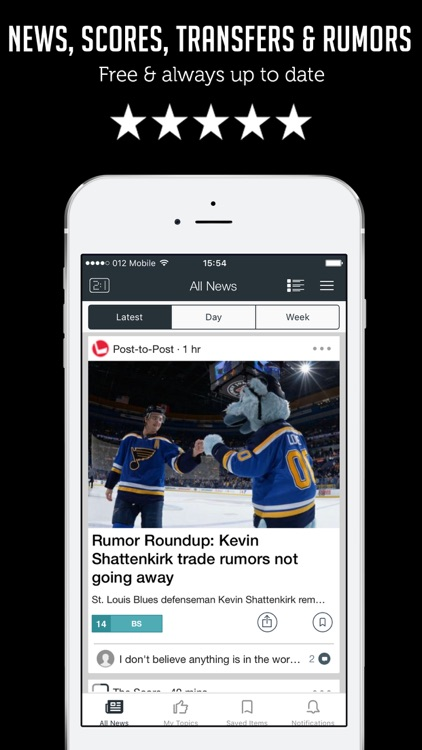 Sportfusion - Hockey News, Live Scores, Standings & Videos for NHL