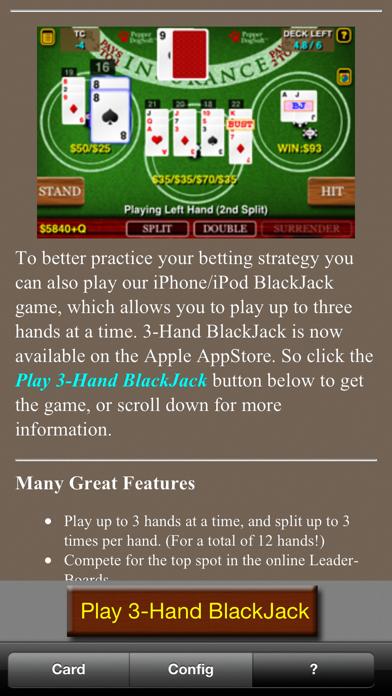 BlackJack Bet Chart +HD screenshot1
