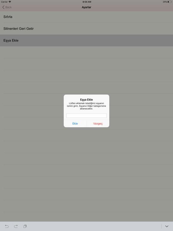 Çeyizim - Çeyiz Hazırlama ipad ekran görüntüleri