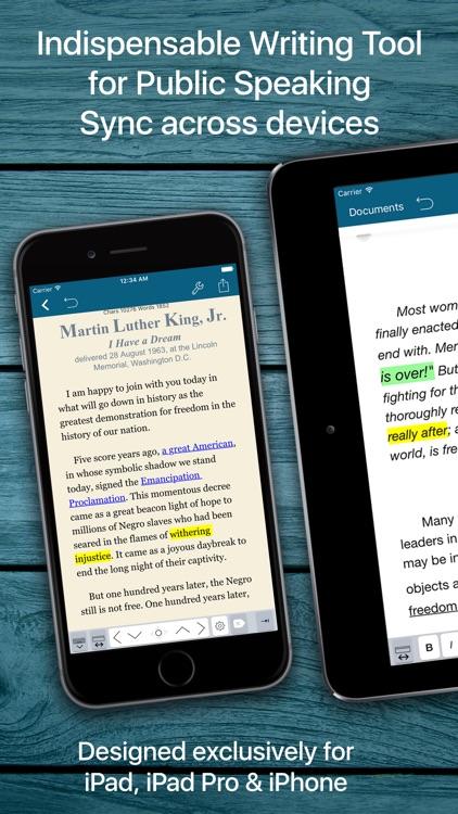 Speech Writer Text Editor screenshot-4