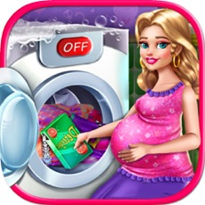 Activities of Pregnant Mom Washing Laundry