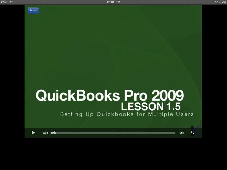 Video Training for Quickbooks 2009 HD