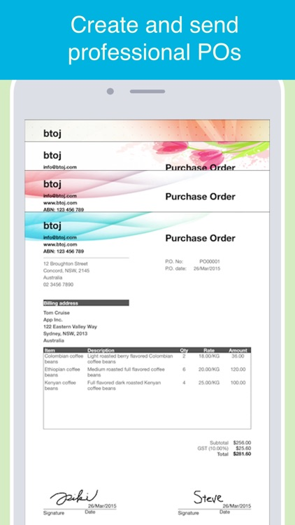 Purchase Order maker - Create and send POs in PDF screenshot-0