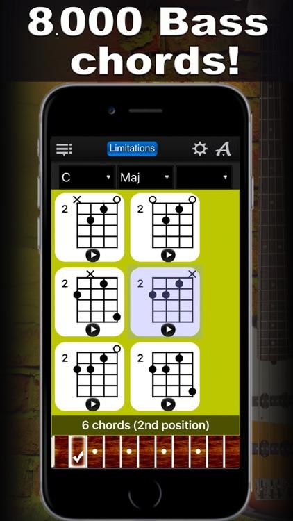Bass Chords Compass Lite - learn the chord charts screenshot-0