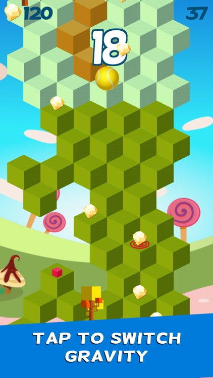 Cube Skip Ball Games - Reach up high in the sky play this endless blocks stacking free