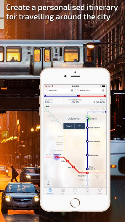 Bucharest Metro Guide and Route Planner screenshot-1